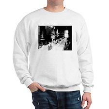 Hypolite Begue in his Restaurant Sweatshirt