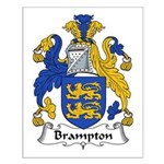 Brampton Family Crest  Small Poster