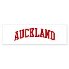 AUCKLAND (red) Bumper Bumper Sticker