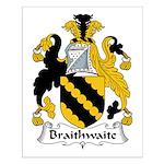 Braithwaite Family Crest Small Poster