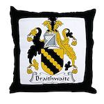 Braithwaite Family Crest Throw Pillow