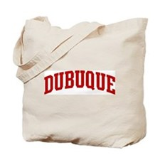 DUBUQUE (red) Tote Bag