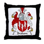 Braham Family Crest Throw Pillow