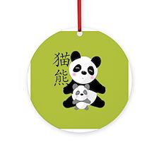 Panda Baby Ornament (Round)