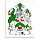 Bragg Family Crest Small Poster