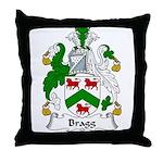 Bragg Family Crest Throw Pillow