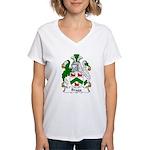 Bragg Family Crest Women's V-Neck T-Shirt