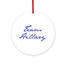 Team Hillary-Jan blue 400 Ornament (Round)