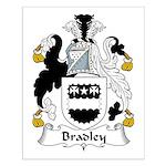 Bradley Family Crest  Small Poster
