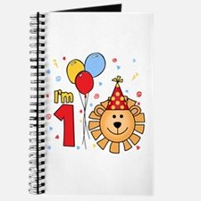 Cool Lion Face First Birthday Journal