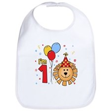 Cool Lion Face First Birthday Bib