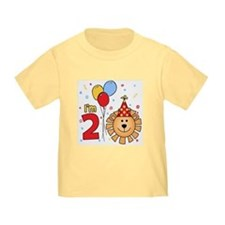 Cool Lion Face 2nd Birthday T