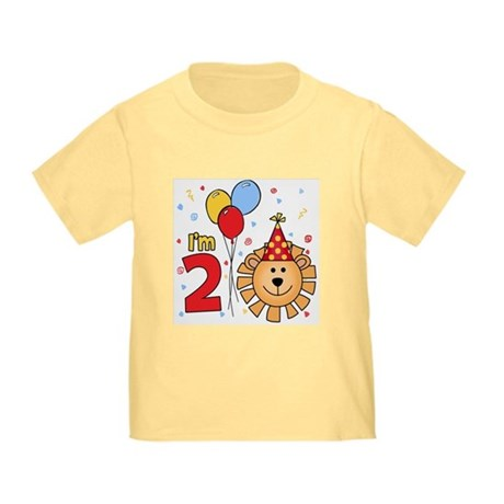 Cool Lion Face 2nd Birthday Toddler T-Shirt