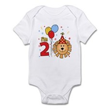 Cool Lion Face 2nd Birthday Infant Bodysuit