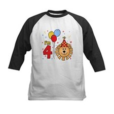 Cool Lion Face 4th Birthday Tee