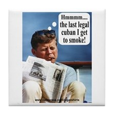 JFK Cigar Tile Coaster