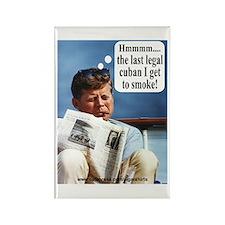 JFK Cigar Rectangle Magnet