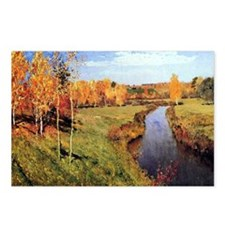 Golden Autumn Postcards (Package of 8)
