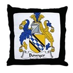 Bowyer Family Crest Throw Pillow