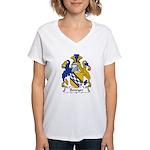 Bowyer Family Crest Women's V-Neck T-Shirt