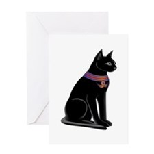 Egyptian Cat Goddess Bastet Greeting Card