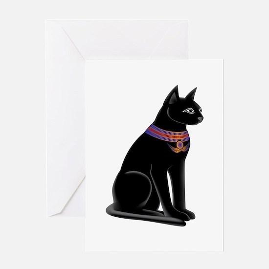 Egyptian Cat Goddess Bastet Greeting Card
