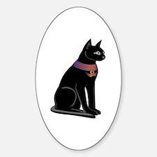 Egyptian Cat Goddess Bastet Oval Decal