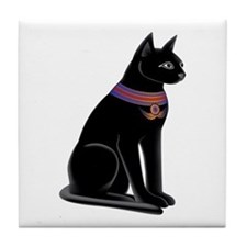 Egyptian Cat Goddess Bastet Tile Coaster