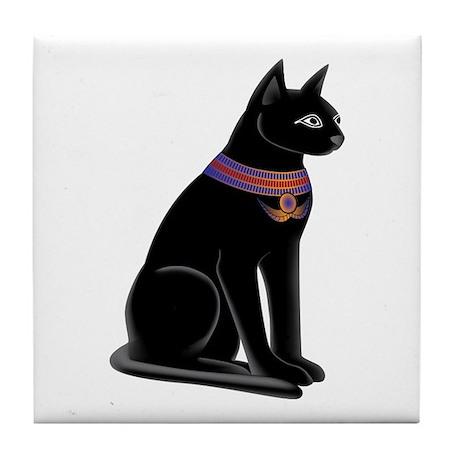 Egyptian Cat Goddess Bastet Tile Coaster