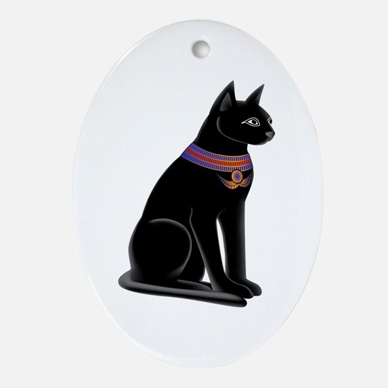Egyptian Cat Goddess Bastet Oval Ornament