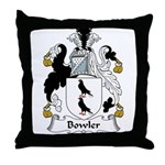Bowler Family Crest Throw Pillow