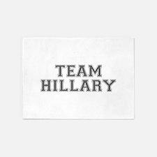 Team Hillary-Var gray 500 5'x7'Area Rug
