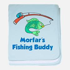 Morfars Fishing Buddy baby blanket