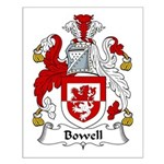 Bowell Family Crest Small Poster