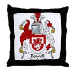 Bowell Family Crest Throw Pillow