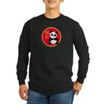 Panda Long Sleeve Dark T-Shirt