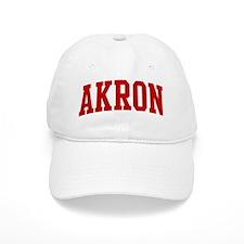 AKRON (red) Baseball Cap