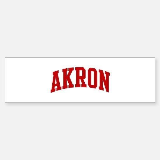 AKRON (red) Bumper Bumper Bumper Sticker