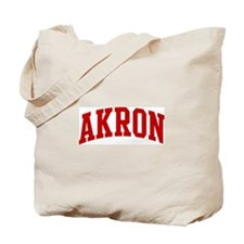 AKRON (red) Tote Bag