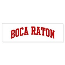 BOCA RATON (red) Bumper Bumper Sticker
