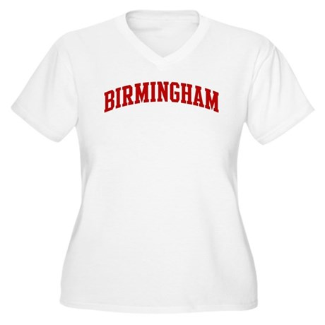 BIRMINGHAM (red) Women's Plus Size V-Neck T-Shirt