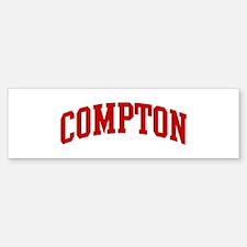 COMPTON (red) Bumper Bumper Bumper Sticker