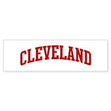 CLEVELAND (red) Bumper Bumper Sticker