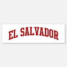 EL SALVADOR (red) Bumper Bumper Bumper Sticker