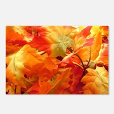 Bright fall leaves Postcards (Package of 8)
