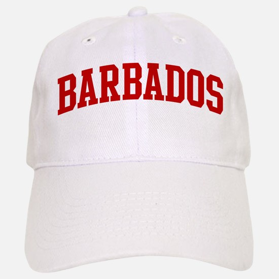 BARBADOS (red) Baseball Baseball Cap