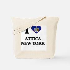I love Attica New York Tote Bag
