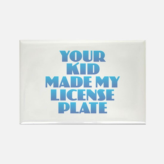 License Plate - Blue Magnets