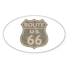 Vintage Route66 Oval Decal