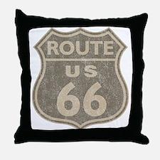 Vintage Route66 Throw Pillow